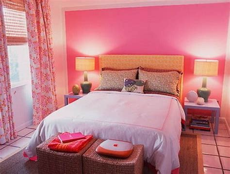 small bedroom colour  pink design idea  married