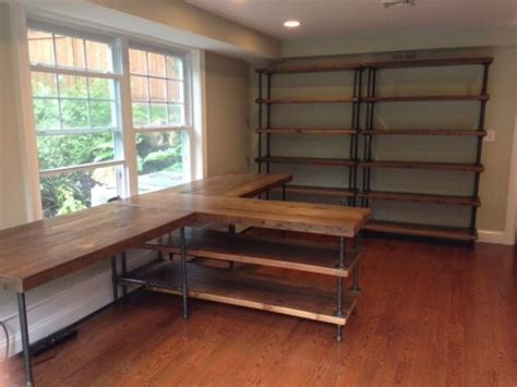 diy pipe desk  shelving  bscottsmith office