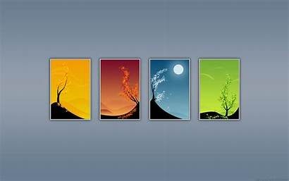 Seasons Artistic Spring Nature Summer Wallpapers Four