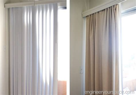 how to conceal vertical blinds with curtains no tools or
