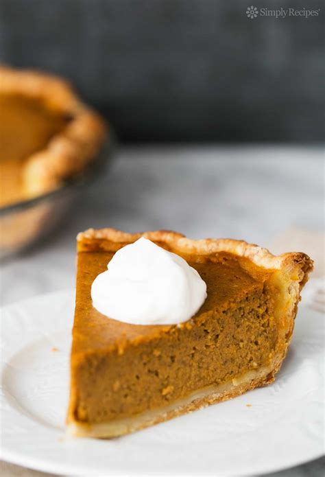 Pumpkin pie is a food item that can be eaten by the player. Homemade Pumpkin Pie | SimplyRecipes.com