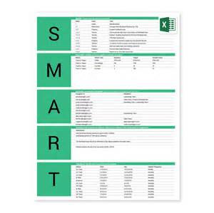 objectives in exles free smart goals excel template