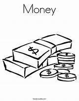 Money Coloring Built California Usa sketch template