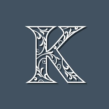 initial letter  floral monogram template filigree logo