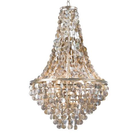 salsberry coastal beach capiz disc shell chandelier kathy kuo home