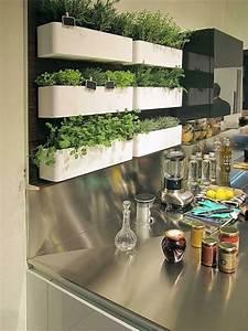 decoration murale pour la cuisine 26 idees archzinefr With idee deco cuisine avec pinterest jardin deco