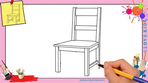 dessiner une chaise dessin chaise comment dessiner une chaise facilement