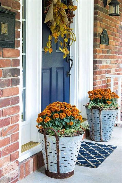 unique front door flower pots  wow  guests