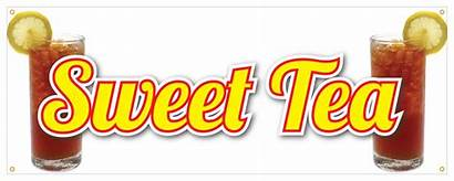 Tea Sweet Sign Ice Banner Stand Cold