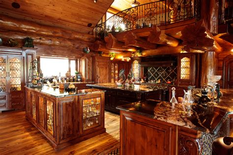 log cabin kitchen lighting ideas log cabin awesome traditional kitchen dallas by