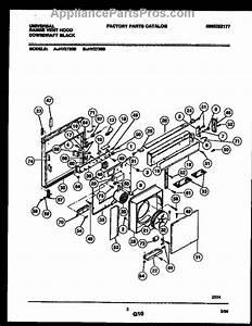 Parts For Frigidaire Hv2730b  Range Vent Hood Parts