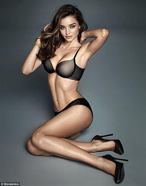 Miranda Kerr strips down to lingerie for latest Wonderbra ...