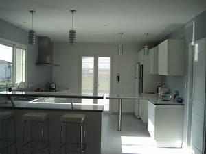 cuisine blanc gris taupe With amazing couleur taupe clair peinture 7 cuisine orange et gris pas cher sur cuisine lareduc
