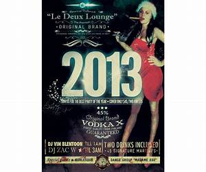 New year party flyer template - retro style flyer, vintage ...