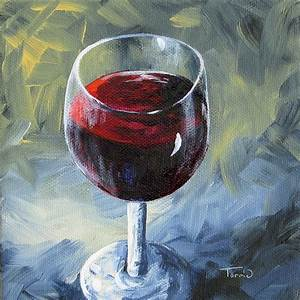 Torrie Smiley, Original Works of Art: Glass of Red Wine II ...