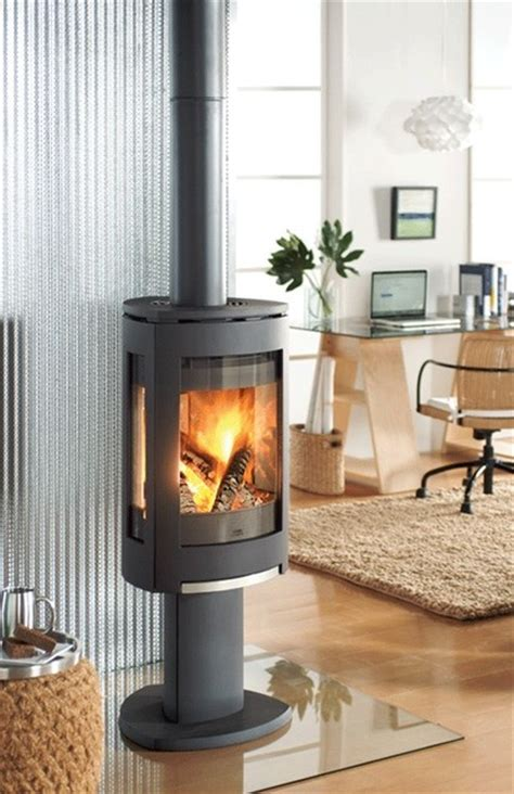 modern wood fireplace jotul f370 concept wood stove contemporary living room Modern Wood Fireplace