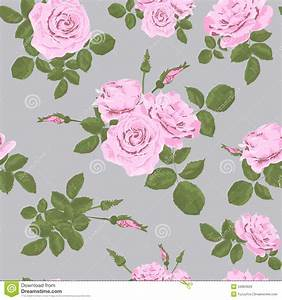 Rose seamless pattern stock image. Image of banner, fabric ...