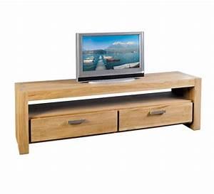 Meuble Tele Haut : meuble t l teck massif bross 180cm born o casita 1321 ~ Teatrodelosmanantiales.com Idées de Décoration