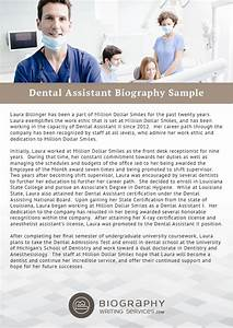Top quality dental assistant biography writing help for Dentist biography template