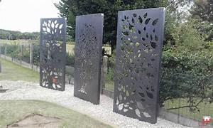 Brise Vue En Aluminium : brise vue en acier corten par bv ferronnerie ~ Edinachiropracticcenter.com Idées de Décoration