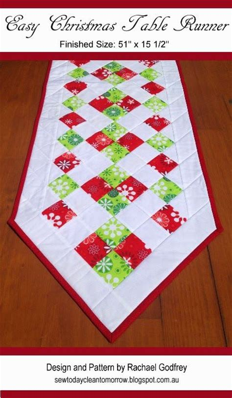 simple table runner patterns 10 images about christmas tutorials and inspiration on