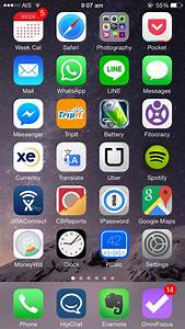 The iPhone Homescreens of 7 Highly Productive People