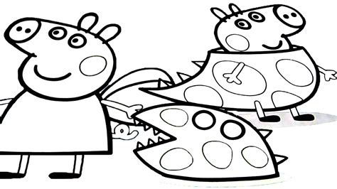 Peppa Pig George Coloring Pages at GetColorings com Free