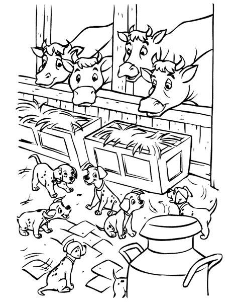Kleurplaat 101 Dalmatiers by 101 Dalmatiers Kleurplaten Disneykleurplaten