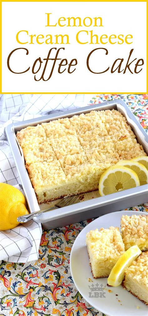 And, the coldness of the lemony cream cheese. Lemon Cream Cheese Coffee Cake - Lord Byron's Kitchen ...