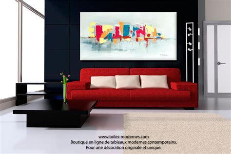 bureau en bois moderne tableau fuchsia gris déco design grande toile rectangle