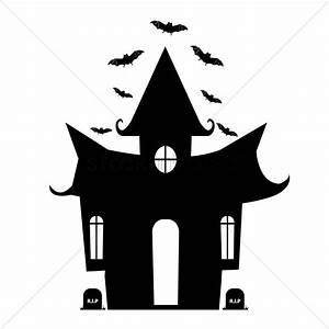 Halloween house silhouette Vector Image - 1484216 ...