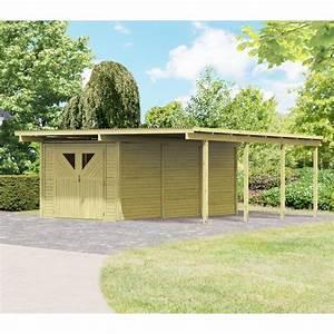 Carport Avec Abri : carport en bois autoclave 30 35m d barras 14 4m karibu ~ Melissatoandfro.com Idées de Décoration