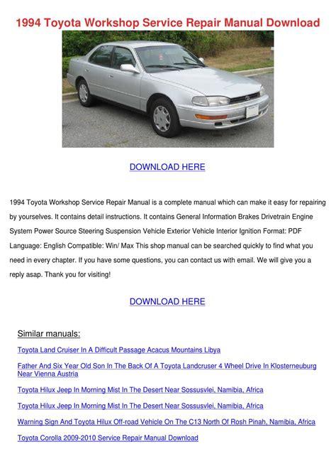 service manual car repair manuals online pdf 1994 1994 toyota workshop service repair manual do by rustyreeve issuu