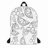 Backpack Colouring Coloring Adult Bag Unique Looking Backpacks Kind Books Lovers Bags Cool sketch template