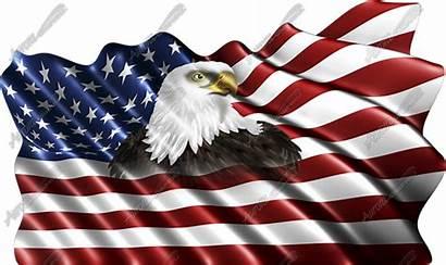 Flag American Eagle Clipart Waving Clip Cliparts