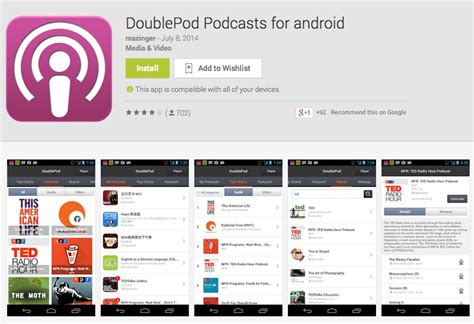 app for android 5 best podcast apps for android drippler apps