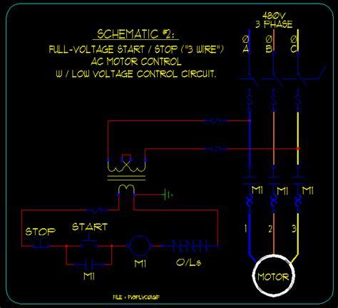 Basic Start Stop Motor Control Schematics Ecn