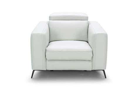 modern leather recliner sofa divani casa roslyn modern white leather sofa set w