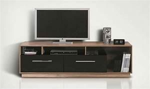 Meuble Tv Design Pas Cher : meuble tv bas meuble t l design noir et noyer pas cher ~ Teatrodelosmanantiales.com Idées de Décoration
