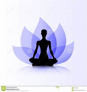 Yoga purple lotus woman stock vector. Image of lotus ...