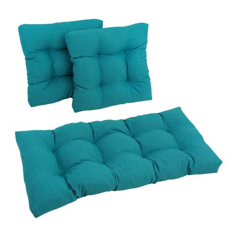 Settee Cushions by Blazing Needles Outdoor Spun Poly Settee Cushions Set Of
