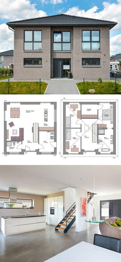 Stadtvilla Moderne Architektur Grundriss by Stadtvilla Modern Mit Loft Charakter Klinker Fassade