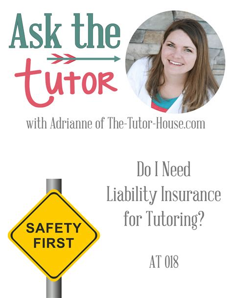 Tutoring insurance protects your education business from lawsuits with rates as low as $27/mo. Do I Need Liability Insurance for Tutoring? Ask the Tutor ...