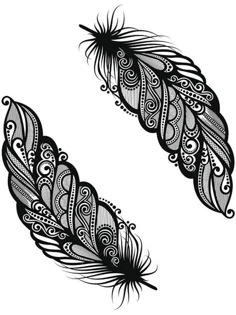 feder vorlage ein feder dreadschmuck henna vorlagen