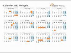 Feiertage 2020 Malaysia Kalender & Übersicht