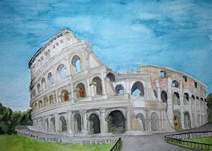 The Colosseum In Rome Painting by Samantha Boyce
