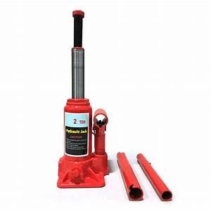 Red 2 Ton Hydraulic Bottle Jack Automotive Car Repair Shop