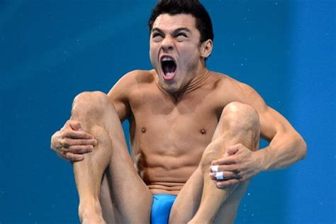 funny athlete faces   win  gold medal