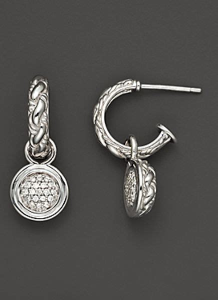 john hardy classic chain kepang sterling silver hoop drop
