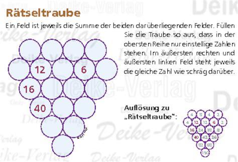 Rechen Rätsel by Rechenr 228 Tsel R 228 Tseltraube Logik Mit Zahlen R 228 Tsel